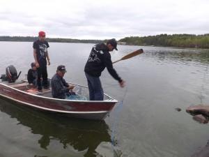 Training on Setting a Fish Net